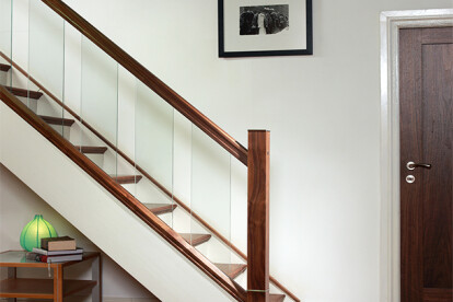 After picture: Modern, Glass staircase