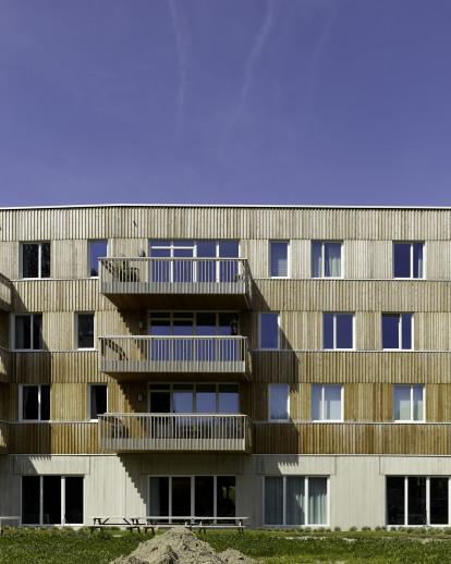 Passive apartment building Den Draad Gentbrugge