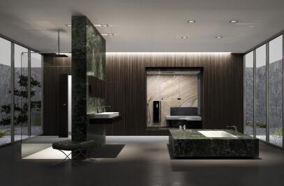Bathroom planning à la Mies van der Rohe