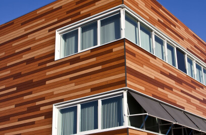vinyPlus facades in wood design