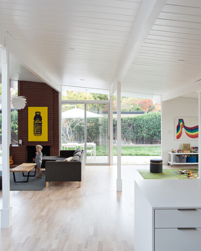 Eichler Great Room Remodel by Klopf Architecture