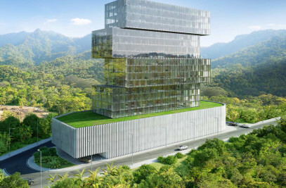 Architectural visualization of an office building in Honduras