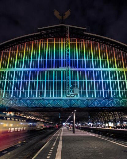 Rainbow Station by Daan Roosegaarde