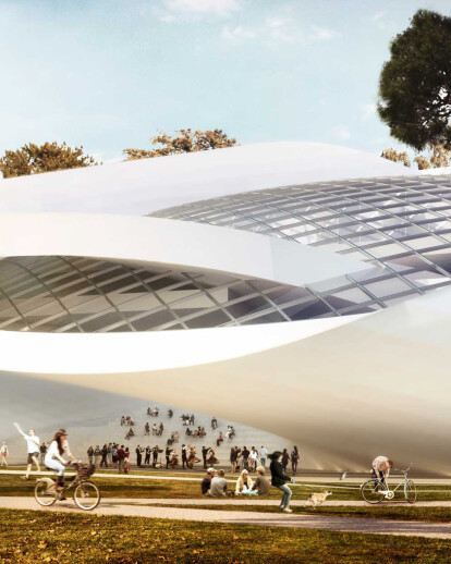 House of Hungarian Music in anonymous  international Liget Budapest competition