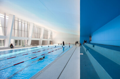 Restructuring and extension of swimming pool in Bagneux