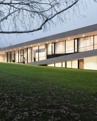 Slight slope long house