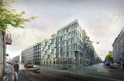 Multicompartment Residential Building on Korolenko Street, St.Petersburg
