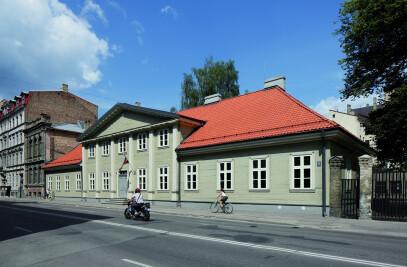 Wooden Building Reconstruction Of Riga School Of Design And Art