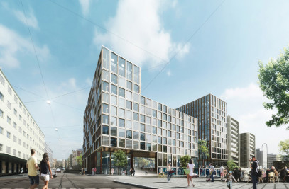 New retail and office complex for Store Brann Eiendom AS. in in downtown Oslo