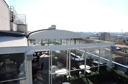 Retractable Roof by LITRA for Four Point By Sherat