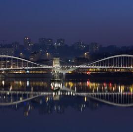 Schuman Bridge on the Saône