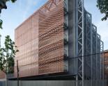 Ceramic facade cladding