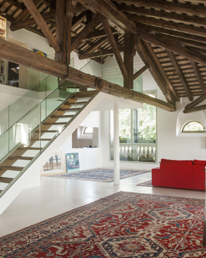 The historic building dressed up as an English loft