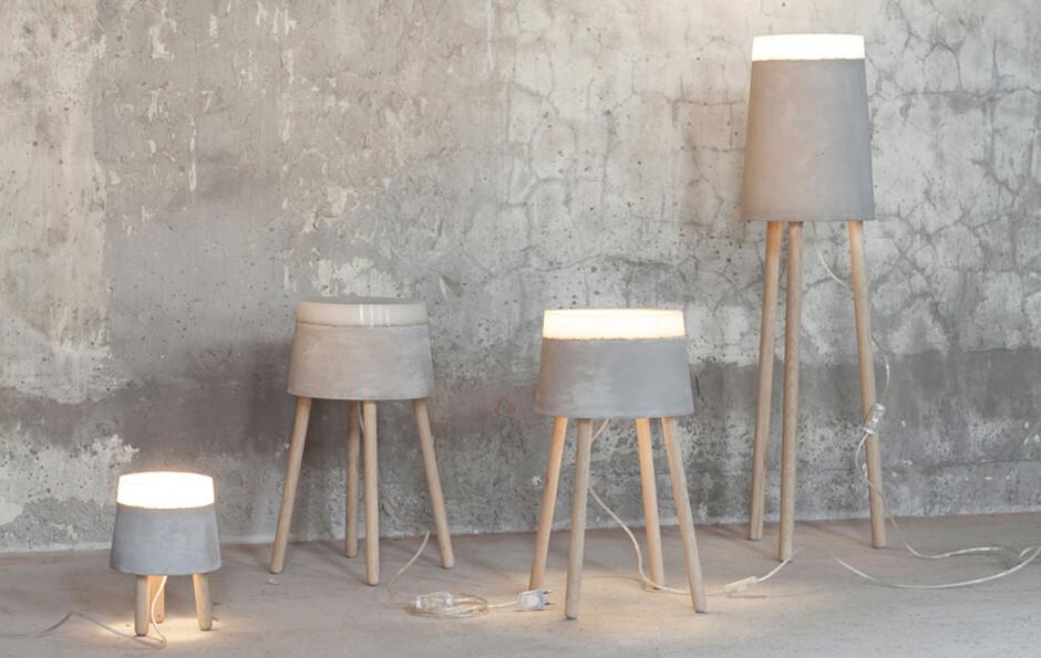 CONCRETE floor/table lamps