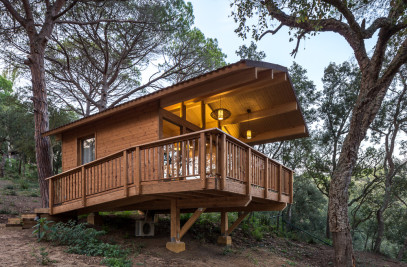 WOODEN HOUSES IN CADIRETES FOREST