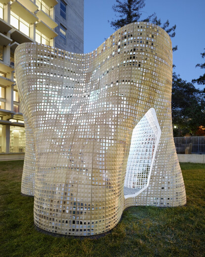 """""""Bloom"""" Pavilion from 3D Printed Cement"""