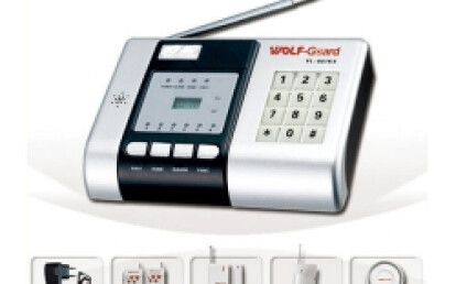 Wireless auto-dial security alarm with connecting monitoring center