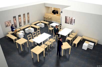 Salon de thé japonais dans la Maison de la Culture du Japon à Paris