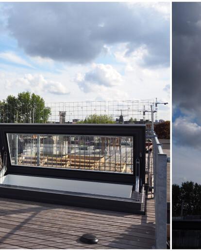 Rooftop access Amsterdam loft