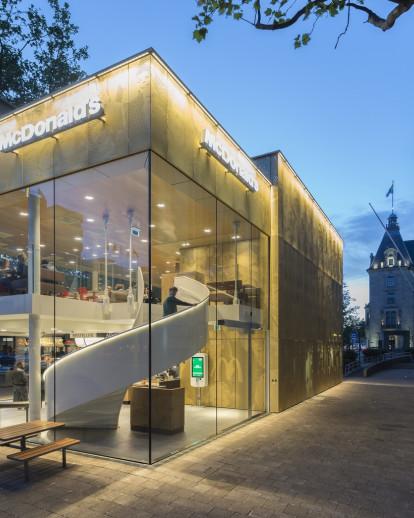 Shining McDonald's in heart of Rotterdam
