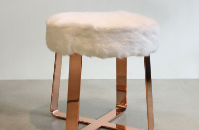 Contemporary Hide Stool
