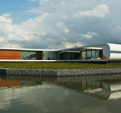 Villa New Water by Waterstudio.NL: high-tech façade covering using Corian®