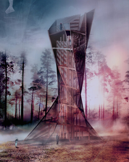 WOODEN LOOK-OUT TOWER