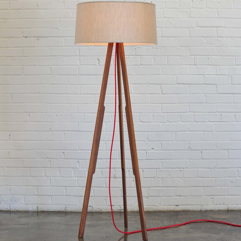 Solstice Floor Lamp (linen/red)