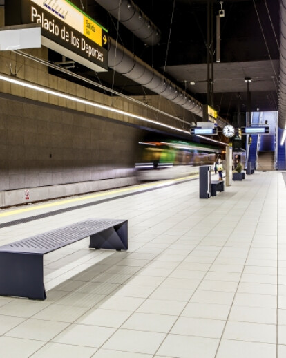 Málaga Metro furnished with attractive street furniture