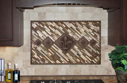 Studded Fleur Medallion Kitchen