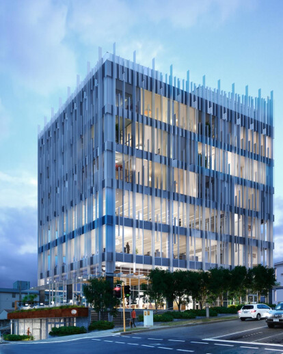 Architectural visualization of a mixed-use building in Perth