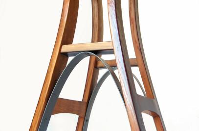 Eiffel Wine Barrel Staves Barstool
