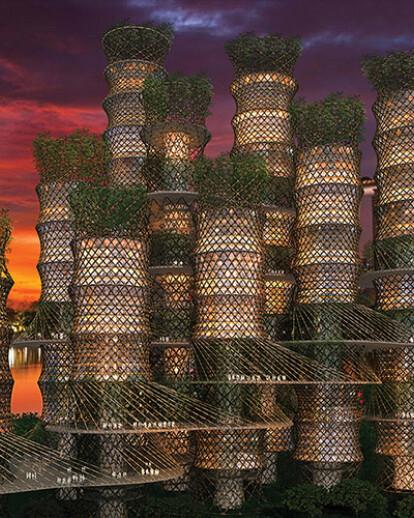 Architect's Village - Bamboo Skyscraper - Singapore
