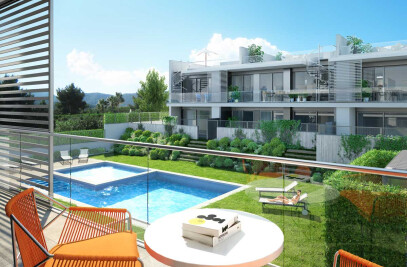 Architectural rendering of dwellings in Ibiza