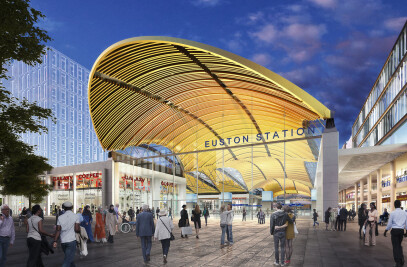 New High Speed Two (HS2) terminal at Euston station