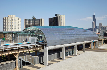 The Cermak-McCormick Place station