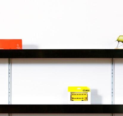 Black shelving systems
