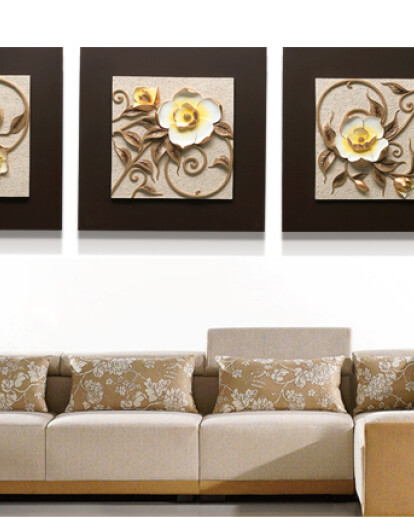 Yisenni 3d Relief Handmade Painting For Wall Decoration Zhejiang