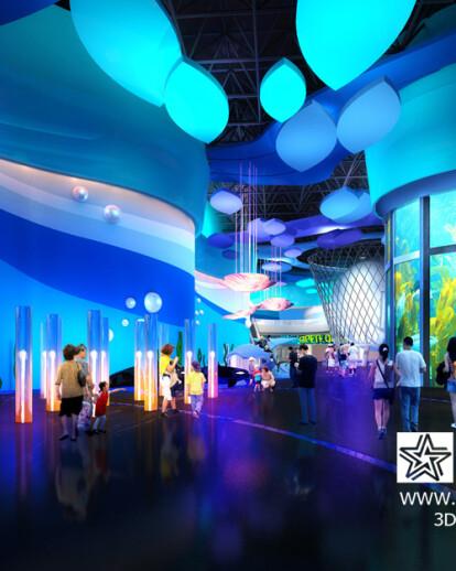Low cost,fast turn-around, high quality 3D renderings-Aquarium renderings