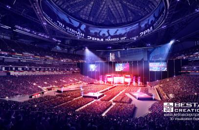 3D architecture renderings- Stadium renderings