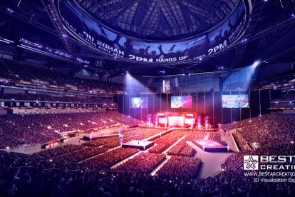 3D Stadium renderings