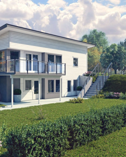 Architectural rendering / Modern Scandinavian houses