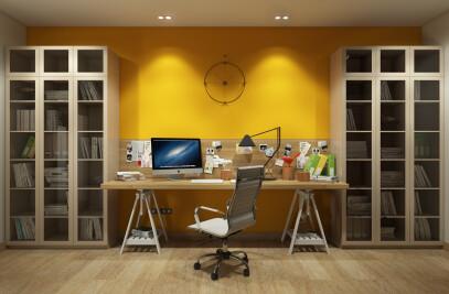 Working area in bedroom