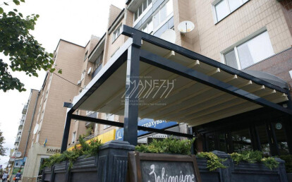 Aluminum Pergola awning M-OCEAN with automatic PVC roof by Manezh