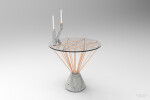 Concrete pedestal table and candle stick