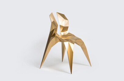 Split Chair Brass
