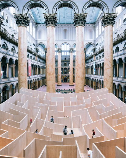 BIG MAZE AT THE NATIONAL BUILDING MUSEUM