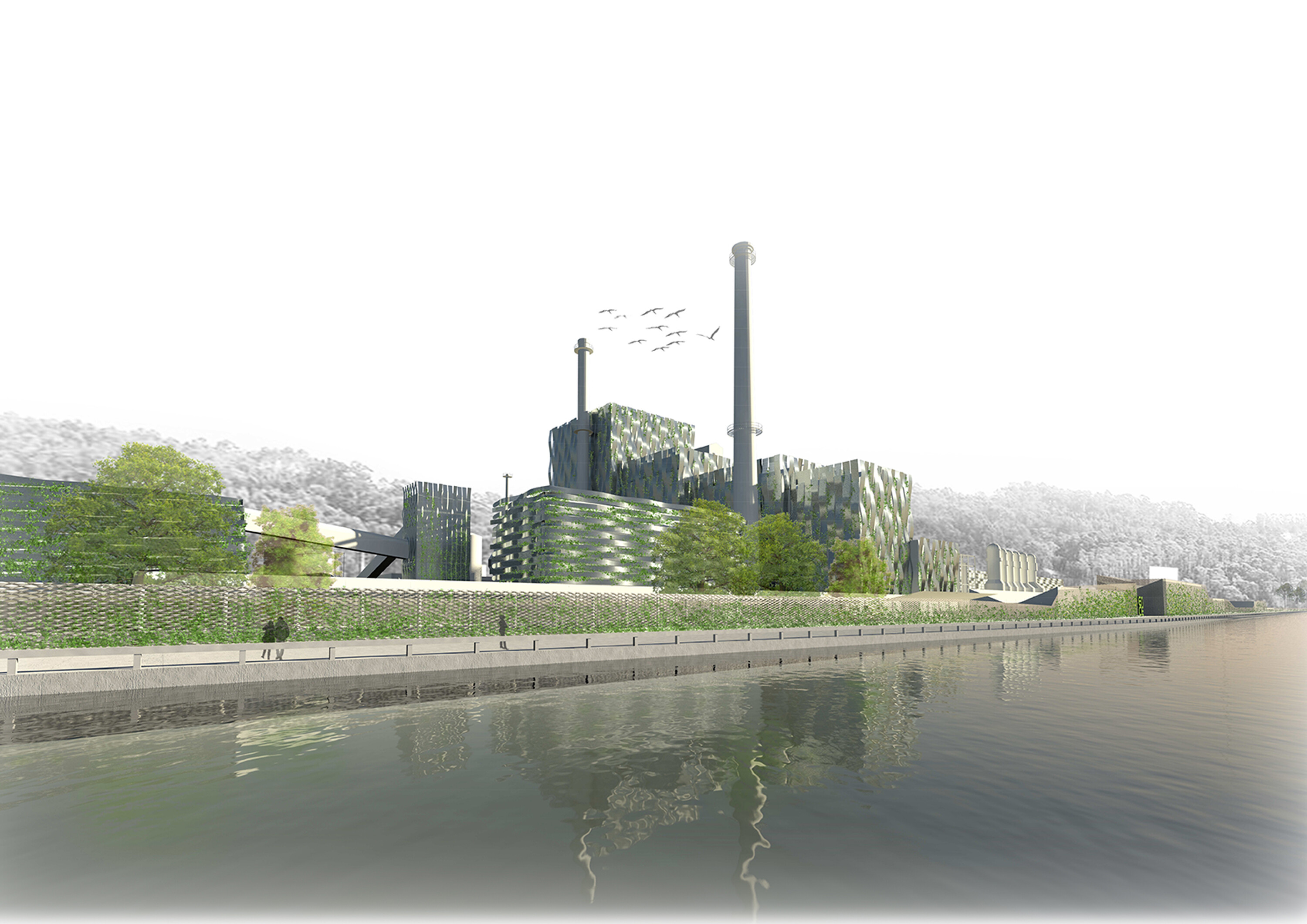 """A Mare Usque Ad Mare"" Arquid's proposal for the Ideas Competition for the  landscape integration of ENCE's factory"