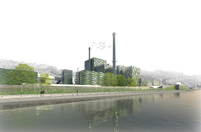 """""""A Mare Usque Ad Mare"""" Arquid's proposal for the Ideas Competition for the  landscape integration of ENCE's factory"""