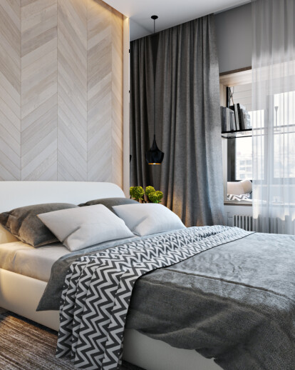 Stylish and comfortable bedroom